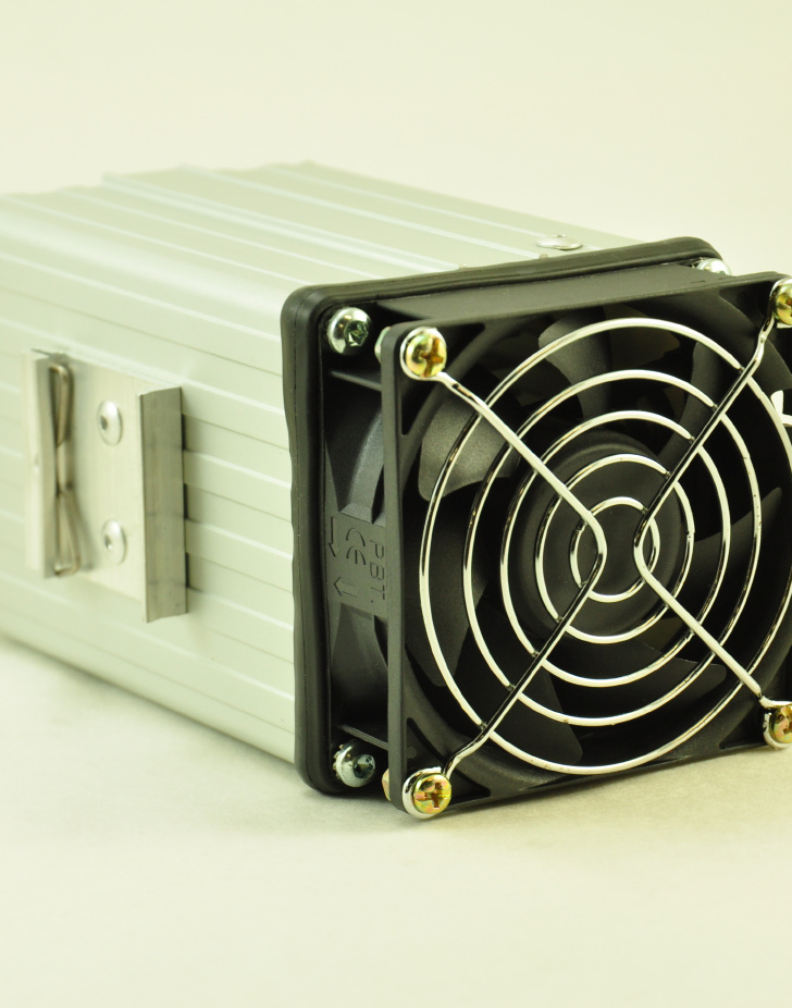 48V, 150W FAN FORCED PTC CONVECTION HEATER Front Facing View