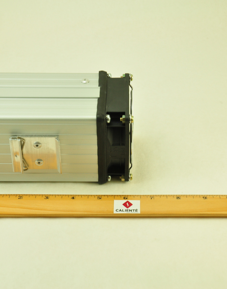 48V, 150W FAN FORCED PTC CONVECTION HEATER Aspect View
